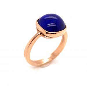 Mesure et art du temps - Yellow Gold Ring Lapis Lazuli