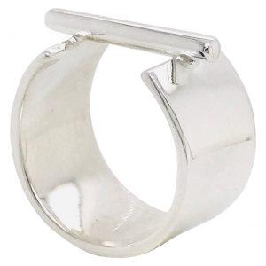 Mesure et art du temps - Graphique Silver Ring with Cross-Bar