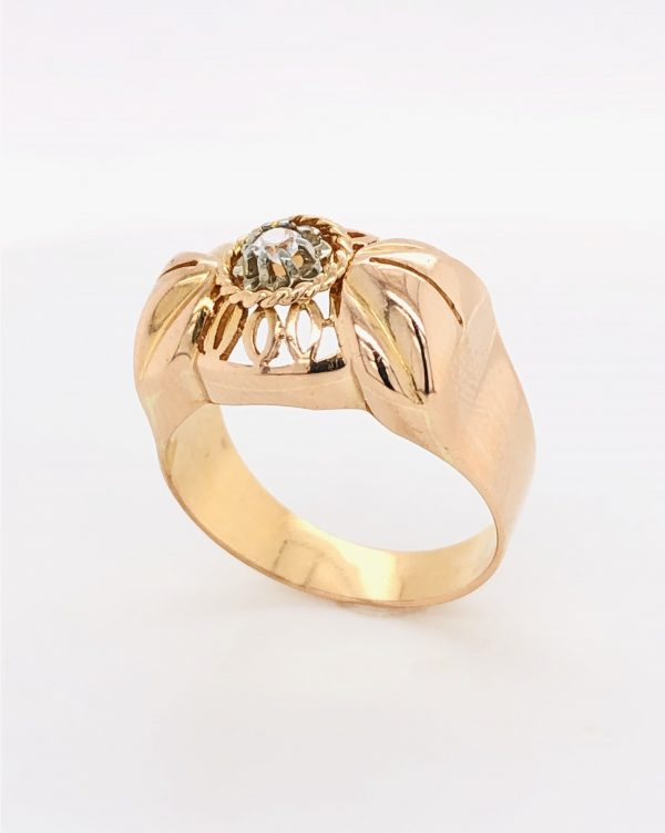 Mesure et art du temps - Ring White Quartz an Rose Gold