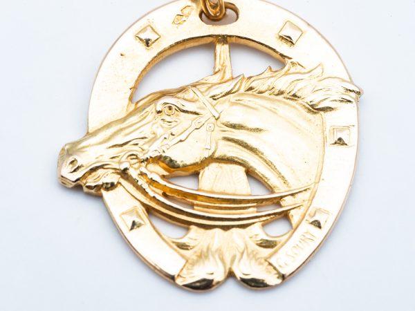 Mesure et art du temps - 18 Karat Yellow Gold Pendant Lucky Charm, Horse