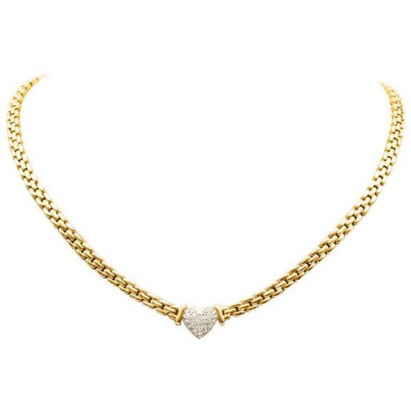 Mesure et art du temps - Necklace Yellow Gold White Gold Diamonds