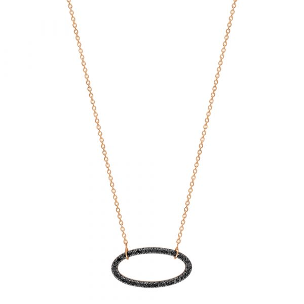 Mesure et art du temps - Skip to the beginning of the images gallery ELLIPSE BLACK DIAMOND NECKLACE Ginette NY