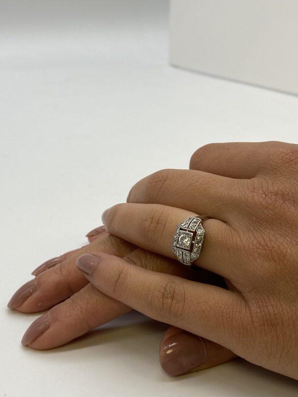 Mesure et art du temps - 18 Karat White Gold Ring with Diamonds. Diamants - Or 18 Carta - Or Blanc - OR Jaune - Bague - Bijoutier - Joaillier