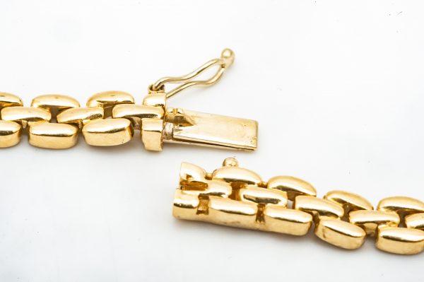 Mesure et art du temps - Necklace Yellow Gold White Gold Diamonds. Bijoutier - Joaillier - Diamants - Or 18 Carats - Morbihan - Bretagne