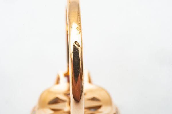 Mesure et art du temps - Mesure et art du temps - 18 Carat Yellow Gold Topaz, Pink Sapphire and Diamond Ring. Bijoutier - Joaillier - Horloger - France - Vannes - Jewelrys - Precious Stones