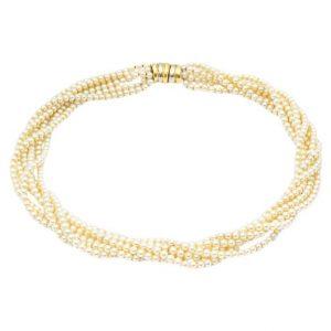 Mesure et art du temps - 6 Row Cultured Pearls Necklace