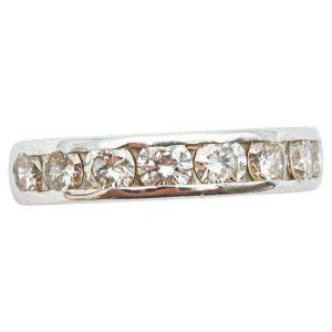 Mesure et art du temps - Bague de fiançailles Or Blanc 18 Carats avec 8 Diamants de 0,16 carats Bague ancienne d'engagement en Or Blanc 18 Carats. Parfaite à offrir ou pour faire sa demande avec 8 Diamants, 1,28 carats au total. Diamants color F/4 8 Diamants : 8x0,16 cts = 1,28 carats Taille : 52 FR, 6 US, L UK