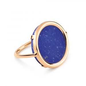 Mesure et art du temps - 18K rose gold and lapis ring Bring color to your life ! EVER, a range of natural stones and original and graphic shapes. We play with colors, we associate them, we wear them in accumulation ... for a colorful life !